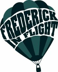 "hot air balloon with ""Frederick in Flight"" in the balloon"