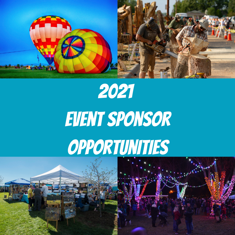 "graphic of event pictures in background with text ""2021 event sponsor opportunities"""