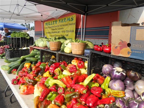 Photo of fresh vegetables at the Frederick Market
